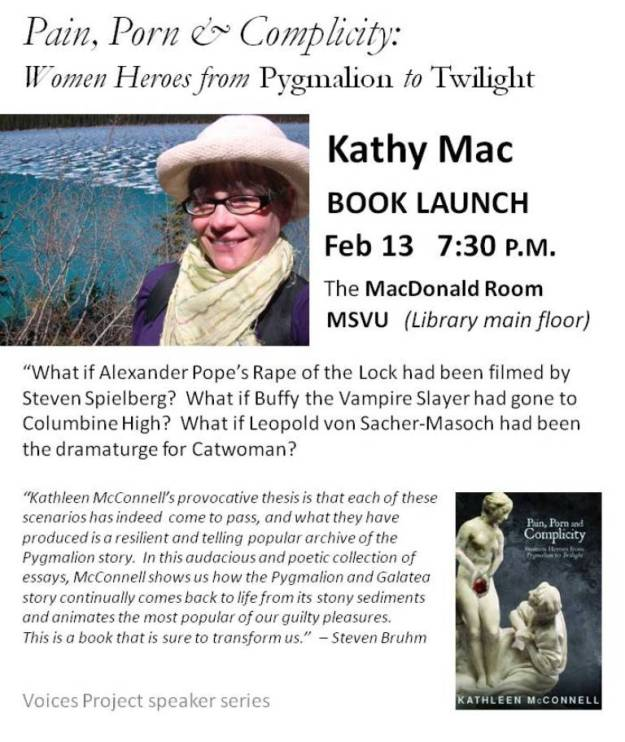Kathy Mac (Kathleen McConnell) book launch poster