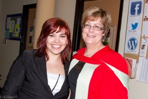 Krista Hill and her supervisor Dr. Karen Macfarlane. photo Krista Hill