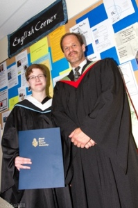 Courtney Church and her supervisor Dr. Graham Fraser. photo Krista Hill