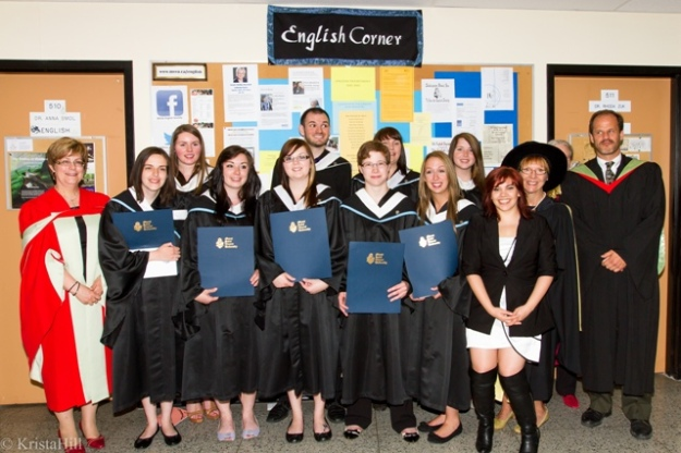 Some of our English grads with faculty 2013. photo Krista Hill