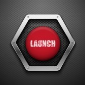 11086710-launch-button-vector-background