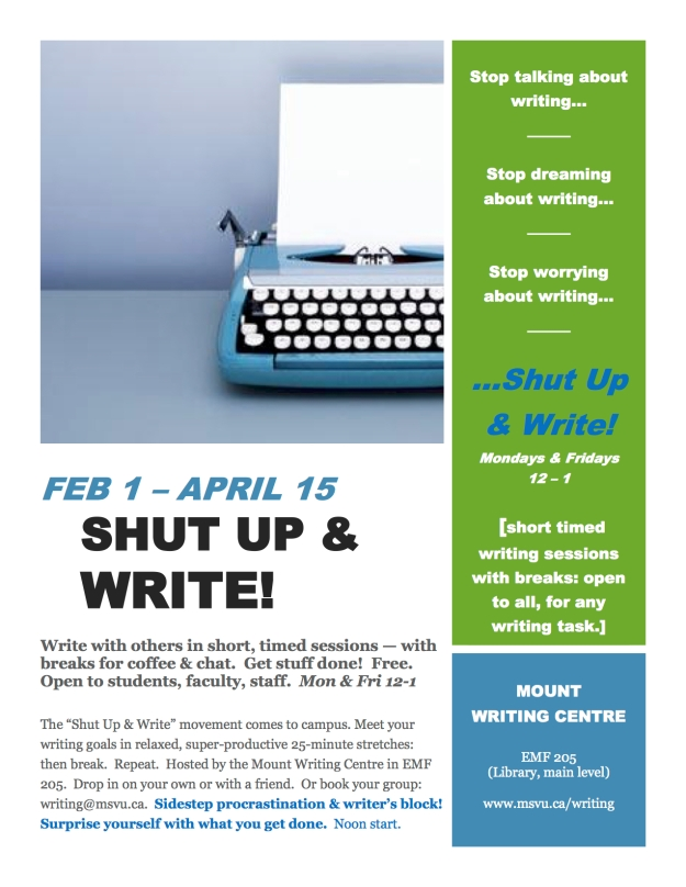 Shut Up and Write poster