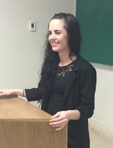 Hailey Stapleton at Annual Atlantic Undergraduate English Conference