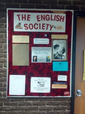 English Society bulletin board Seton 555