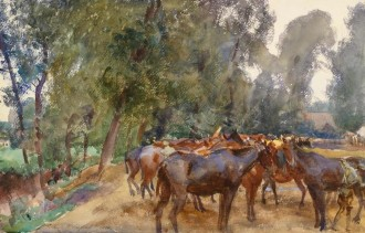Sargent painting of horse lines IWM