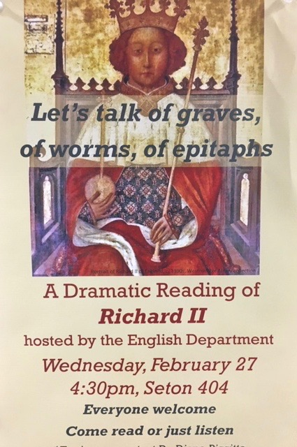 Dramatic reading of Richard II