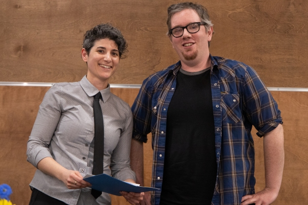 2019 Student Awards Shawn Hunt with Dr. Diane Piccitto