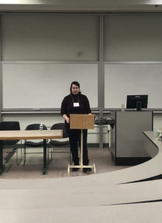 April Stevens presenting at AAUEC 2019