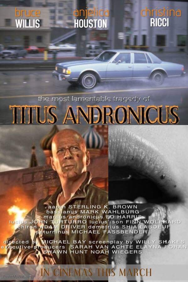 ENGL 2201 movie poster for Titus Andronicus